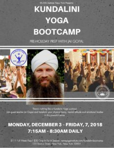 Kundalini Yoga Boot Camp New York City