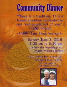 Virginia Beach Community Dinner Kundalini Yoga